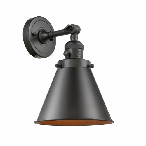 Innovations Lighting 203-M13 Appalachian-1 Light Wall Sconce in Traditional Style-8 Inches Wide by 13 Inches High
