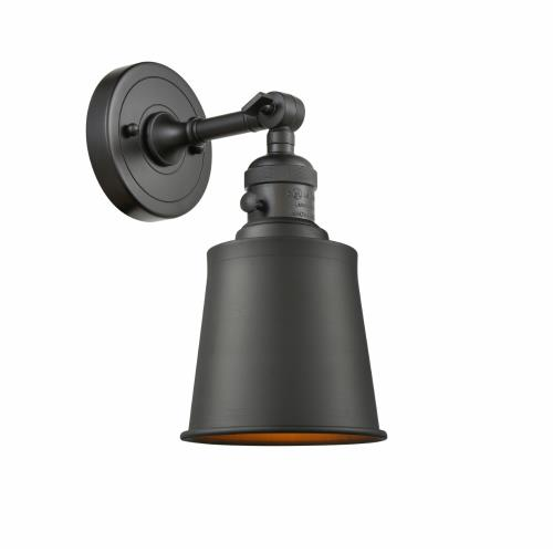 Innovations Lighting 203-M9 Addison-1 Light Wall Sconce in Traditional Style-5 Inches Wide by 11 Inches High