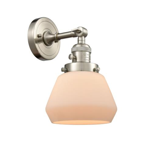 Innovations Lighting 203-G17 Fulton-1 Light Wall Sconce in Industrial Style-7 Inches Wide by 11 Inches High