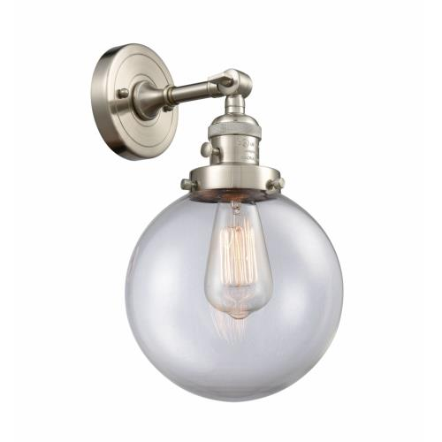 Innovations Lighting 203-G20-8 Large Beacon-1 Light Wall Sconce in Industrial Style-8 Inches Wide by 14 Inches High