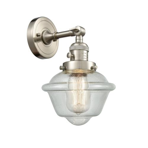 Innovations Lighting 203-G53 Small Oxford-1 Light Wall Sconce in Traditional Style-7.5 Inches Wide by 12 Inches High