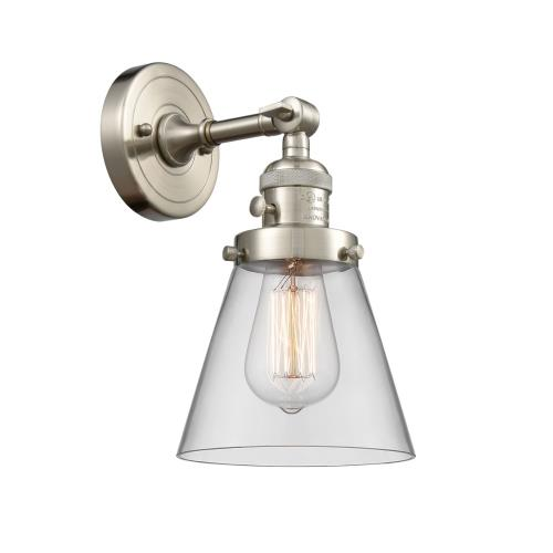 Innovations Lighting 203-G6 Small Cone-1 Light Wall Sconce in Industrial Style-6.25 Inches Wide by 10 Inches High