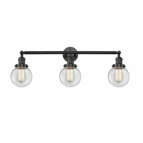 Innovations Lighting 205-G20-6 Beacon-3 Light Bath Vanity in Industrial Style-30 Inches Wide by 12 Inches High