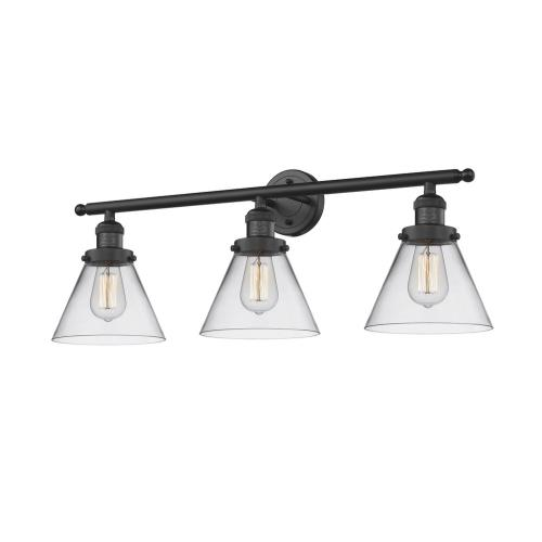Innovations Lighting 205-G4 Large Cone-3 Light Bath Vanity-32 Inches Wide by 11 Inches High