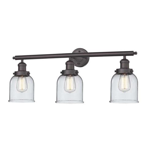 Innovations Lighting 205-G5 Small Bell-3 Light Bath Vanity-30 Inches Wide by 11 Inches High