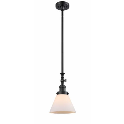 Innovations Lighting 206-G4 Large Cone-1 Light Mini Pendant-8 Inches Wide by 14 Inches High