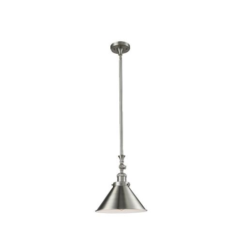 Innovations Lighting 206-Br Briarcliff-One Light Heavy Swivel Mini Pendant-10 Inches Wide by 14 Inches High