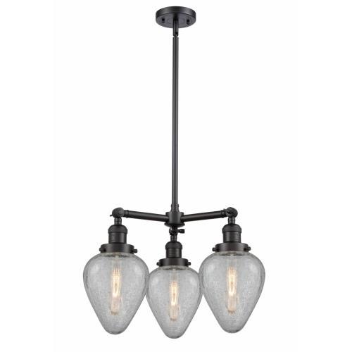 Innovations Lighting 207-G165-LED Geneseo - 26 Inch 10.5W 3 LED Chandelier