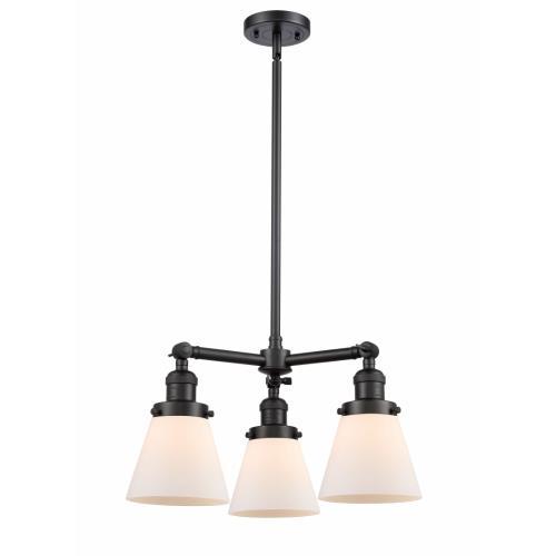 Innovations Lighting 207-G6 Small Cone - 3 Light Chandelier