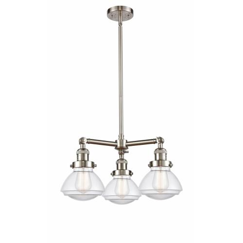 Innovations Lighting 207-G32 Olean-3 Light Chandelier in Industrial Style-18.75 Inches Wide by 10.75 Inches High