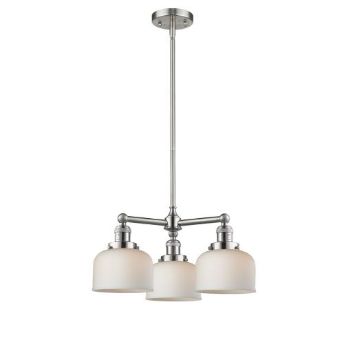 Innovations Lighting 207-G7 Large Bell-3 Light Chandelier in Industrial Style-22 Inches Wide by 11 Inches High