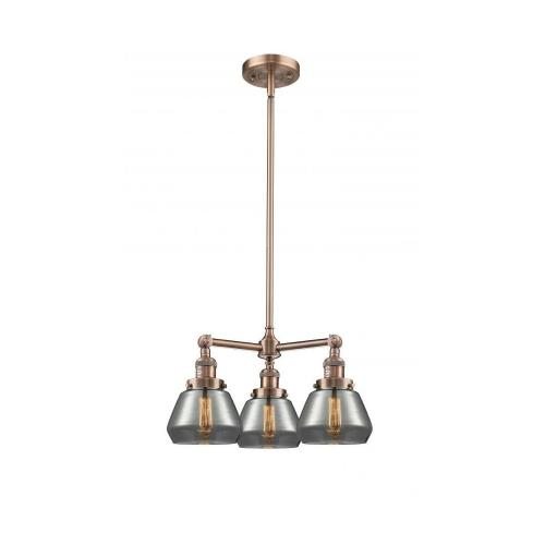 Innovations Lighting 207-Fu Fulton-Three Light Adjustable Chandelier-22 Inches Wide by 13 Inches High