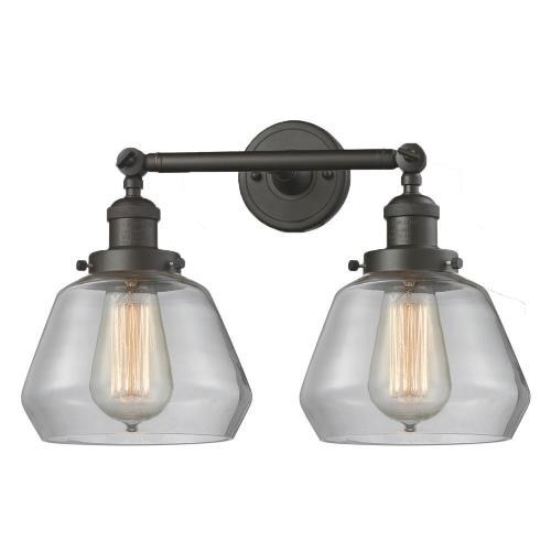 Innovations Lighting 208-Fu Fulton - Two Light Adjustable Wall Sconce