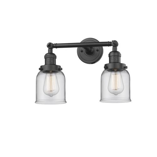 Innovations Lighting 208-G5 Small Bell-2 Light Bath Vanity in Industrial Style-16 Inches Wide by 10 Inches High