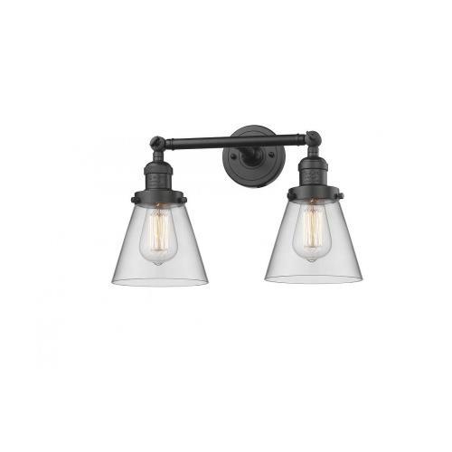 Innovations Lighting 208-G6 Small Cone - 16 Inch 2 Light Bath Vanity