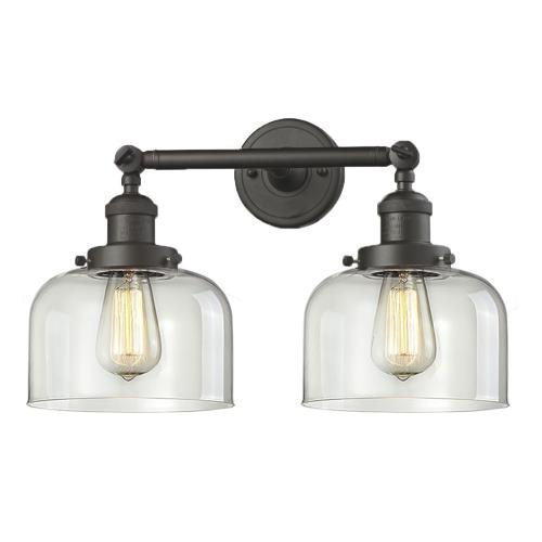 Innovations Lighting 208-G7 Large Bell-2 Light Bath Vanity in Industrial Style-19 Inches Wide by 12 Inches High