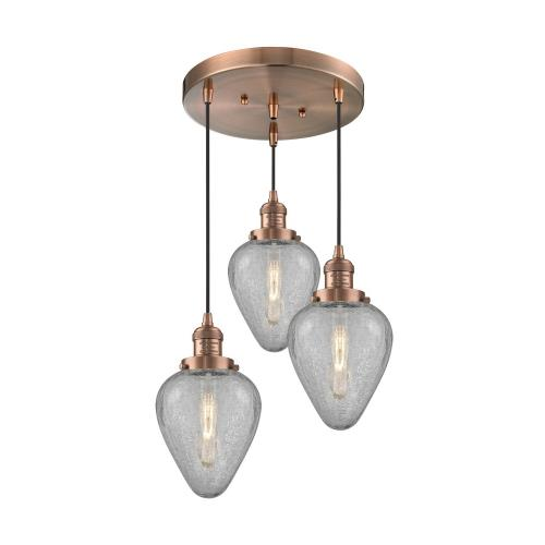 Innovations Lighting 211/3-Ge Geneseo - Three Light Adjustable Cord Pan Chandelier