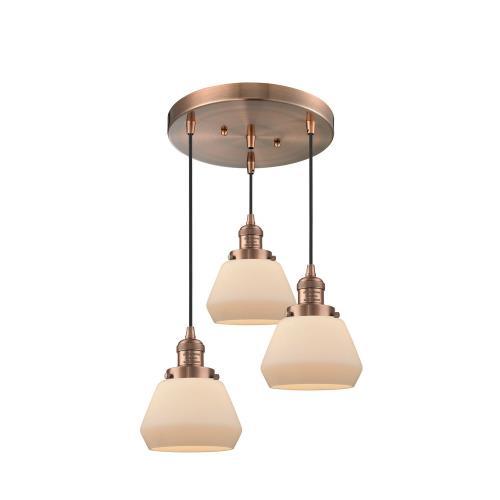 Innovations Lighting 211/3-Fu Fulton - Three Light Adjustable Cord Pan Chandelier