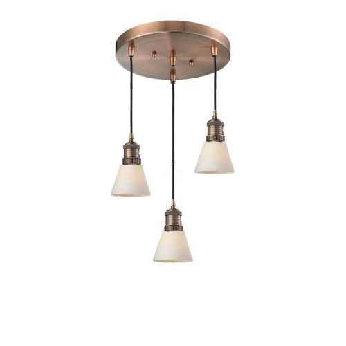 Innovations Lighting 211/3-G6 Small Cone - 3 Light Multi-Pendant