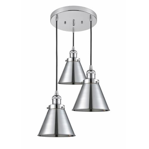 Innovations Lighting 211/3-M13 Appalachian-3 Light Multi-Pendant in Industrial Style-14 Inches Wide by 10 Inches High