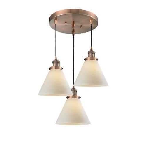 Innovations Lighting 211/3-G4 Large Cone - 3 Light Multi-Pendant