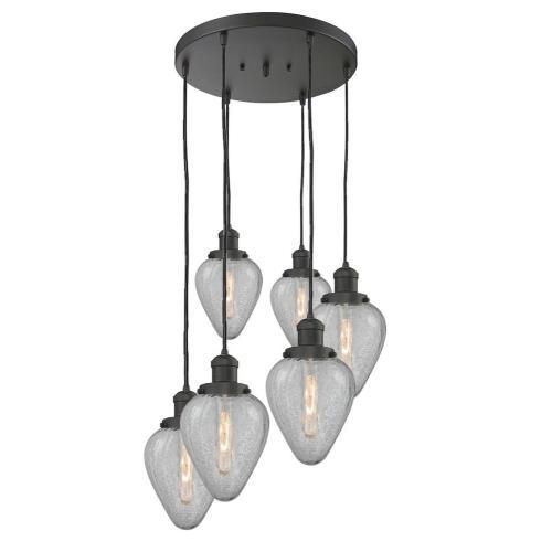 Innovations Lighting 212/6-Ge Geneseo - Six Light Adjustable Cord Pan Chandelier