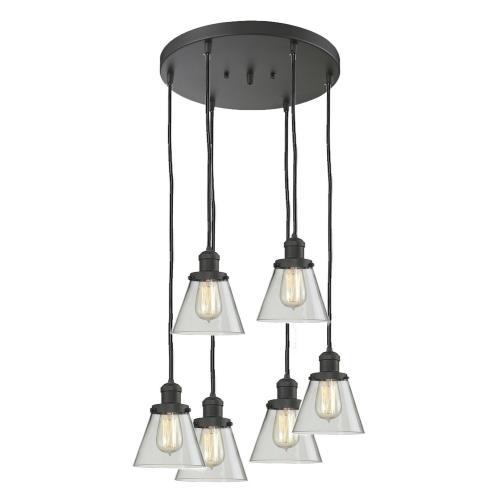 Innovations Lighting 212/6-G6 Six Light Small Cone Pan Chandelier