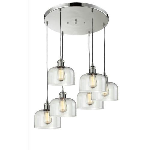 Innovations Lighting 212/6-G7 Six Light Large Bell Pan Chandelier-12 Inches Wide