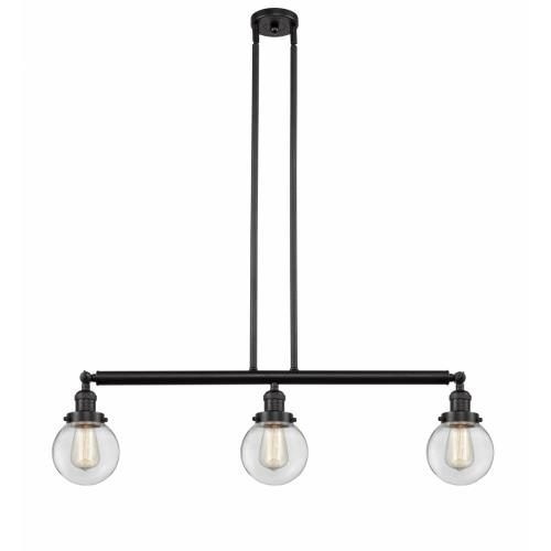Innovations Lighting 213-G20-6 Beacon-3 Light Island in Industrial Style-38.5 Inches Wide by 10.88 Inches High