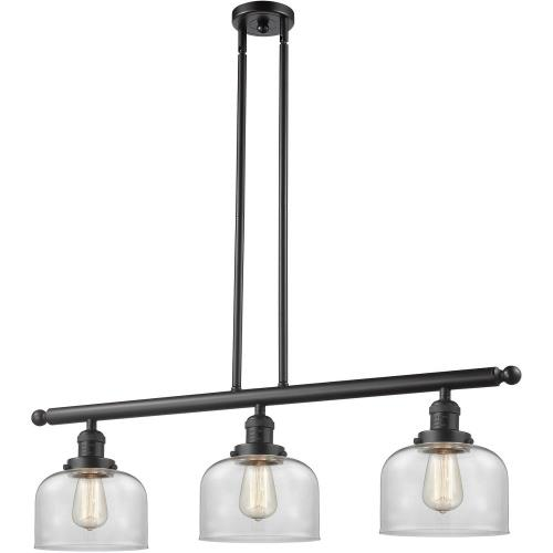 Innovations Lighting 213-G7 Large Bell-3 Light Island in Industrial Style-40.5 Inches Wide by 13 Inches High