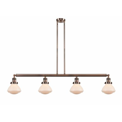 Innovations Lighting 214-G32-LED Olean-14W 4 LED Island in Industrial Style-51.38 Inches Wide by 8.75 Inches High