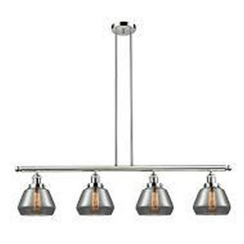 Innovations Lighting 214-Fu Fulton-Four Light Adjustable Stem Island-48 Inches Wide by 10 Inches High