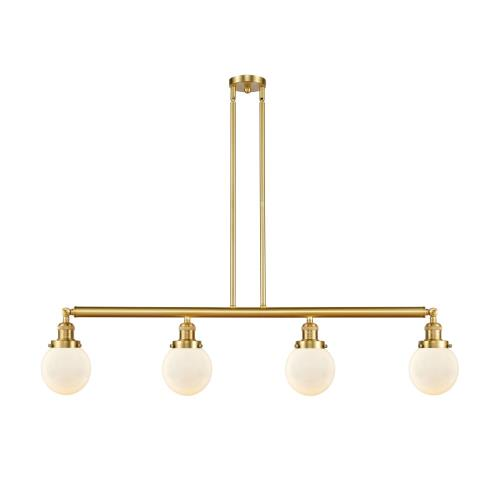 Innovations Lighting 214-G20-6 Beacon-4 Light Island in Industrial Style-50.63 Inches Wide by 10.88 Inches High