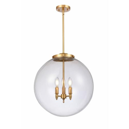 Innovations Lighting 221-3S-18-LED Beacon-10.5W 3 LED Pendant in Industrial Style-18 Inches Wide by 19 Inches High