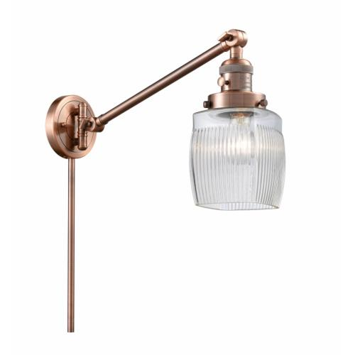 Innovations Lighting 237-G302 Colton-1 Light Swing Arm Wall Mount in Traditional Style-8 Inches Wide by 25 Inches High