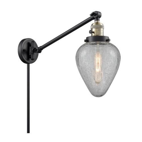 Innovations Lighting 237-G165 Geneseo-1 Light Swing Arm Wall Mount in Industrial Style-8 Inches Wide by 25 Inches High