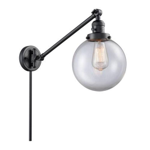 Innovations Lighting 237-G20-8 Large Beacon-1 Light Swing Arm Wall Mount in Industrial Style-8 Inches Wide by 25 Inches High