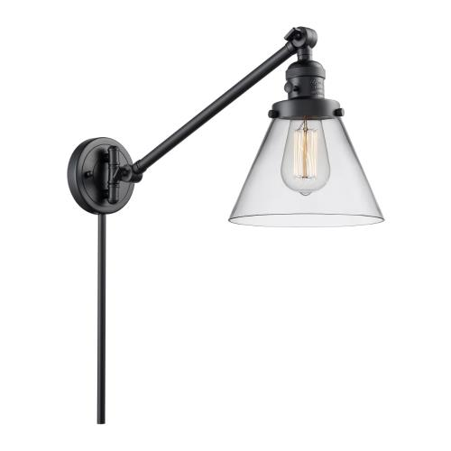 Innovations Lighting 237-G4 Large Cone-1 Light Swing Arm Wall Mount in Industrial Style-8 Inches Wide by 25 Inches High