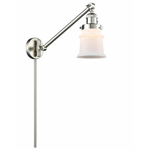 Innovations Lighting 237-G18S Small Canton-1 Light Swing Arm Wall Mount in Industrial Style-8 Inches Wide by 25 Inches High