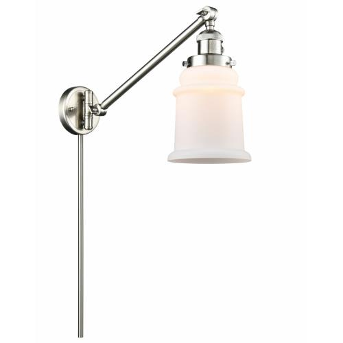 Innovations Lighting 237-G18 Canton-1 Light Swing Arm Wall Mount in Industrial Style-8 Inches Wide by 25 Inches High