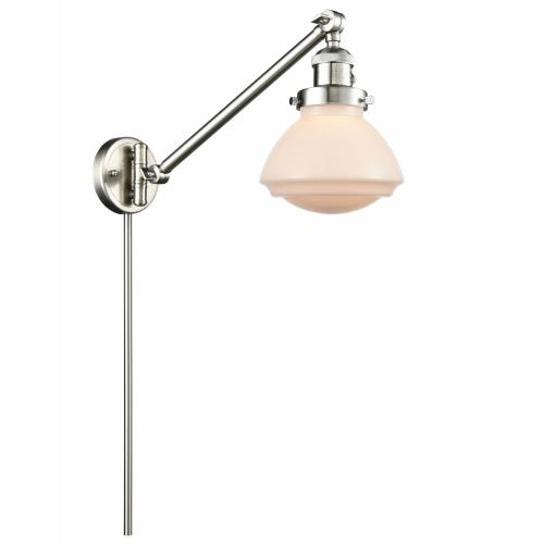 Innovations Lighting 237-G32 Olean-1 Light Swing Arm Wall Mount in Industrial Style-8.75 Inches Wide by 22.38 Inches High