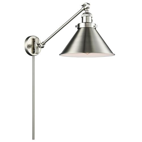 Innovations Lighting 237-Br Briarcliff-One Light Adjustable Swing Arm Portable Wall Sconce-10 Inches Wide by 25 Inches High