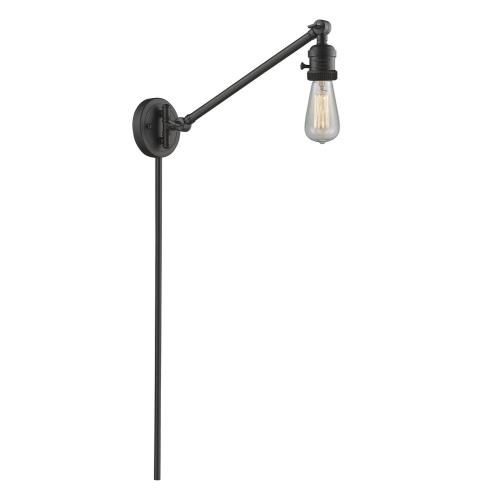 Innovations Lighting 237NH Bare Bulb-1 Light Swing Arm Wall Mount in Traditional Style-5 Inches Wide by 25 Inches High