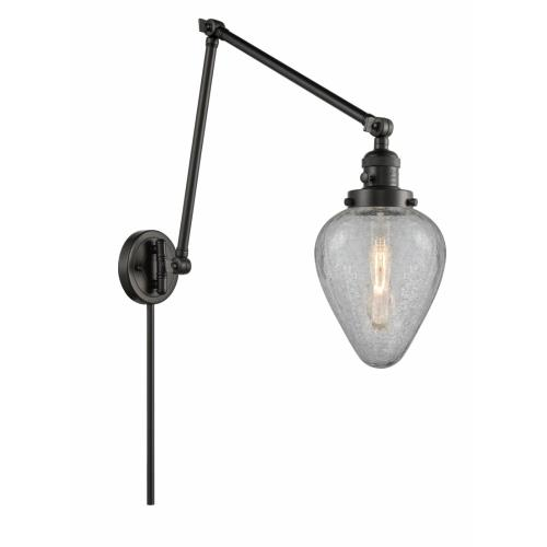 Innovations Lighting 238-G165 Geneseo-1 Light Swing Arm Wall Mount in Industrial Style-8 Inches Wide by 30 Inches High