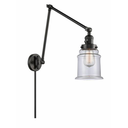 Innovations Lighting 238-G18 Canton-1 Light Swing Arm Wall Mount in Industrial Style-8 Inches Wide by 30 Inches High