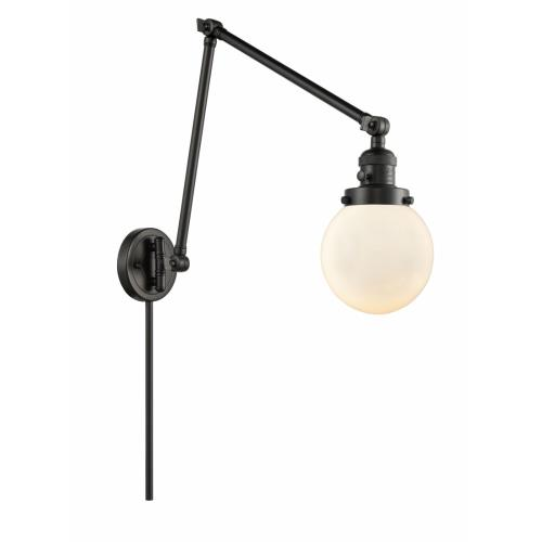 Innovations Lighting 238-G20-6 Beacon-1 Light Swing Arm Wall Mount in Industrial Style-6 Inches Wide by 30 Inches High