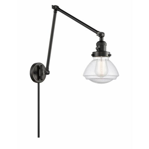 Innovations Lighting 238-G32 Olean-1 Light Swing Arm Wall Mount in Industrial Style-8.75 Inches Wide by 27.75 Inches High