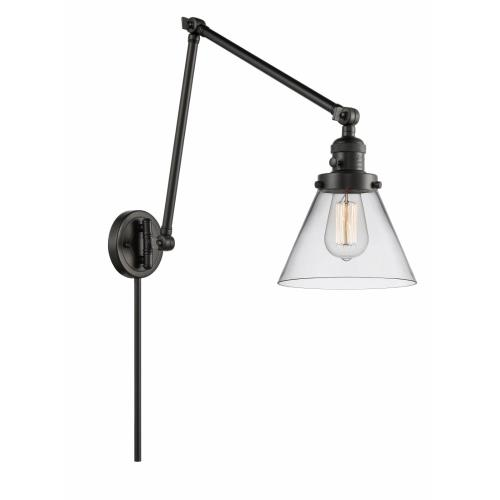 Innovations Lighting 238-G4 Large Cone-1 Light Swing Arm Wall Mount in Industrial Style-8 Inches Wide by 30 Inches High