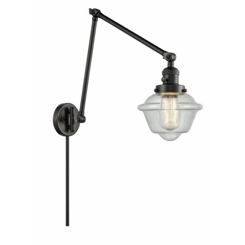 Innovations Lighting 238-G53 Small Oxford-1 Light Swing Arm Wall Mount in Traditional Style-8 Inches Wide by 30 Inches High