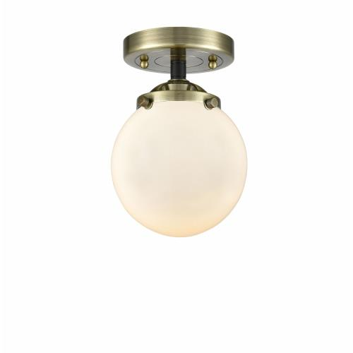Innovations Lighting 284-1C-G20-6 Beacon-1 Light Semi-Flush Mount in Industrial Style-6 Inches Wide by 8.13 Inches High